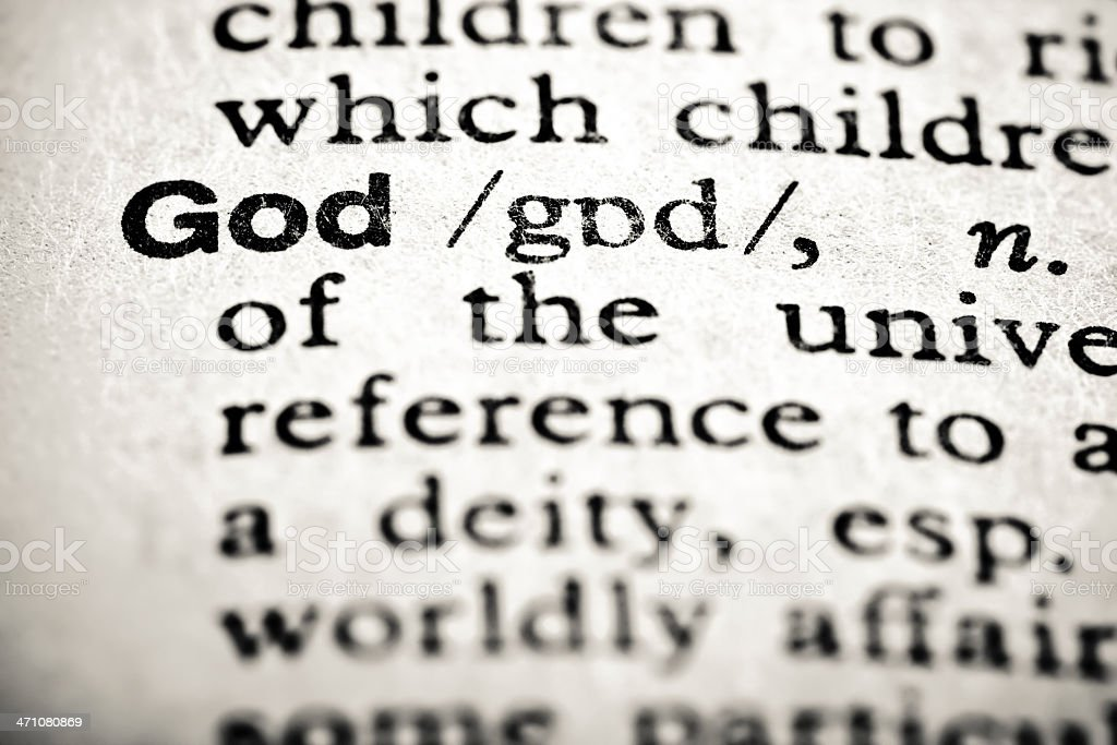 Definition: God royalty-free stock photo
