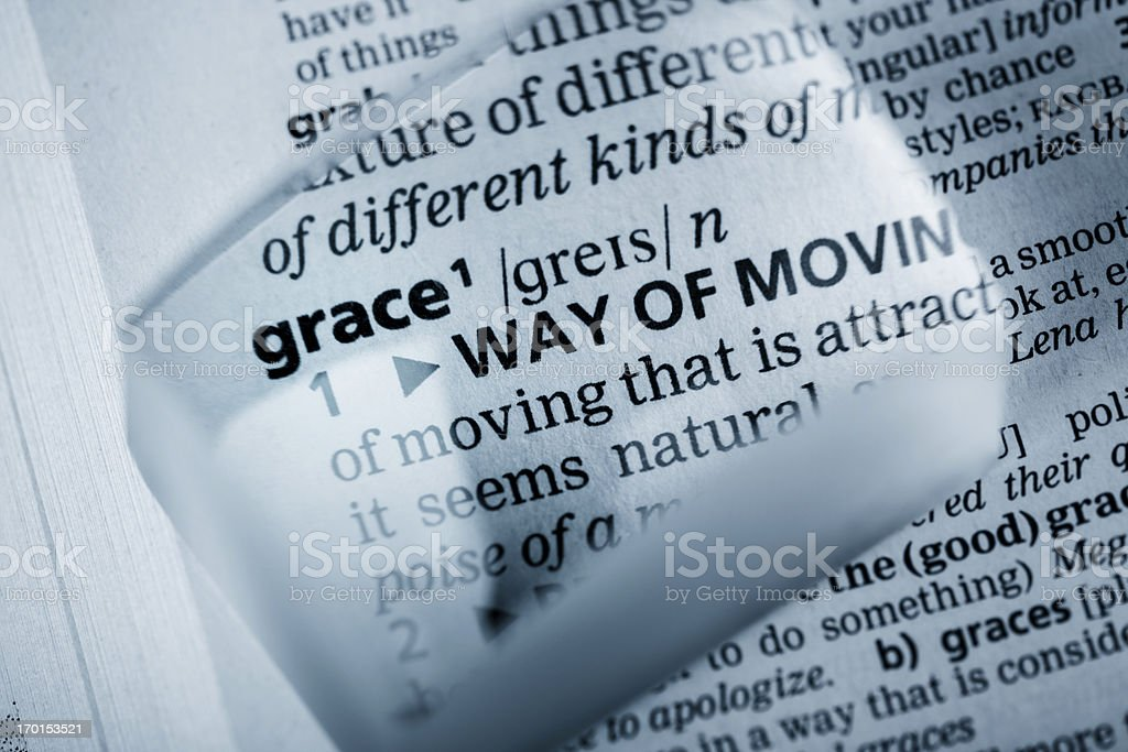 Definition 'grace' royalty-free stock photo