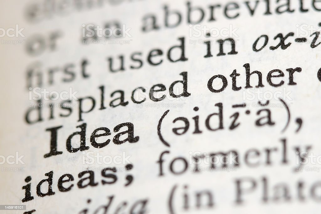 Definition in a Dictionary royalty-free stock photo