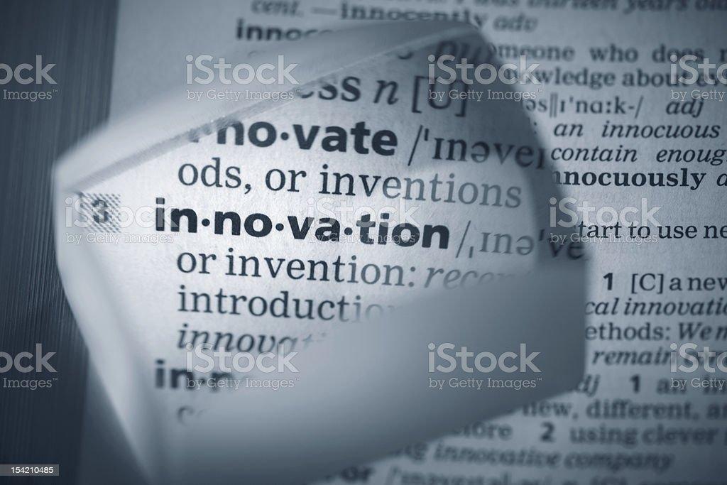 Definition 'innovation' royalty-free stock photo