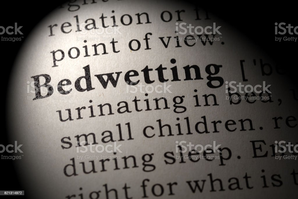 definition of Bedwetting stock photo
