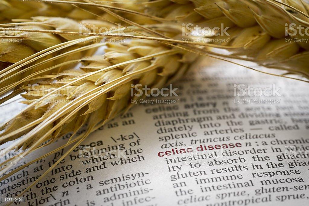 Definition of Celiac Disease stock photo