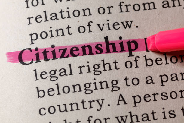 definition of citizenship - foto stock