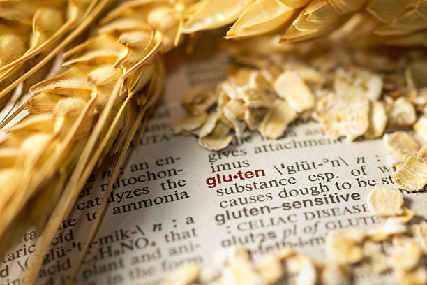 definition von gluten - definition krankheit stock-fotos und bilder