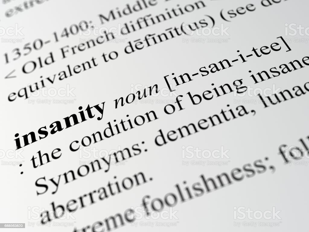 Definition Of Insanity Stock Photo - Download Image Now - iStock