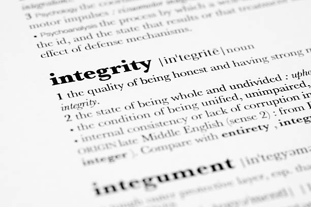 Definition of Integrity. stock photo