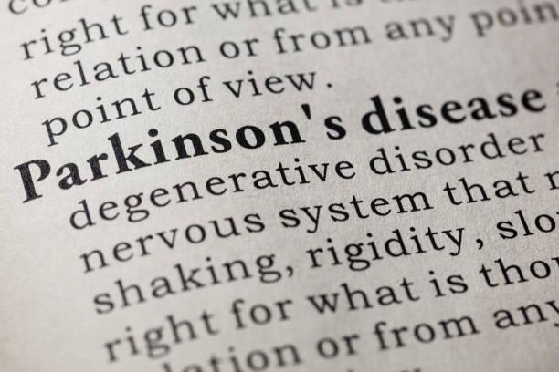 definition der parkinson-erkrankung - definition krankheit stock-fotos und bilder