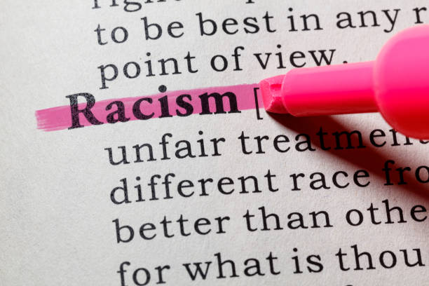 definition of Racism stock photo