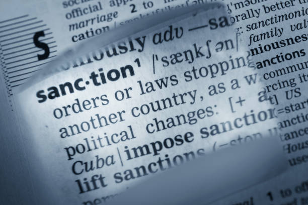 Definition of Sanction Definition of Sanction sanctions stock pictures, royalty-free photos & images