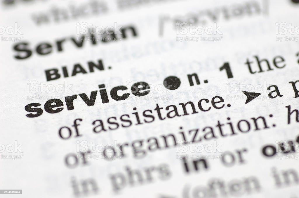 Definition of service royaltyfri bildbanksbilder
