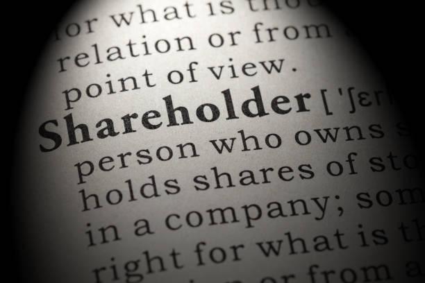 definition of shareholder stock photo
