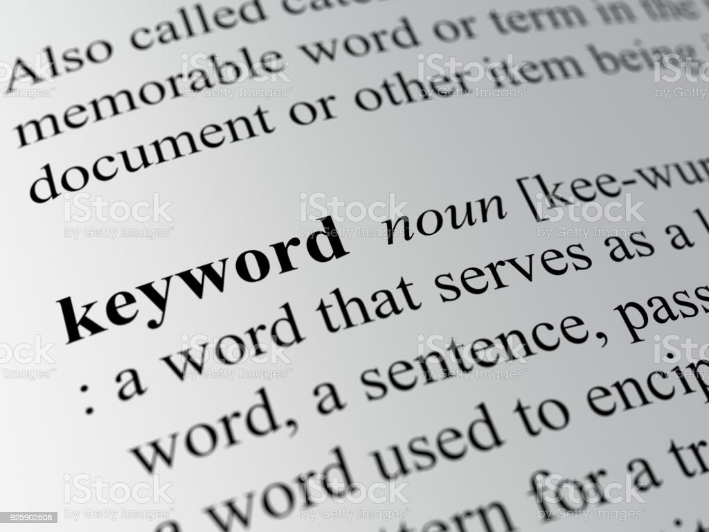 definition of the keyword stock photo
