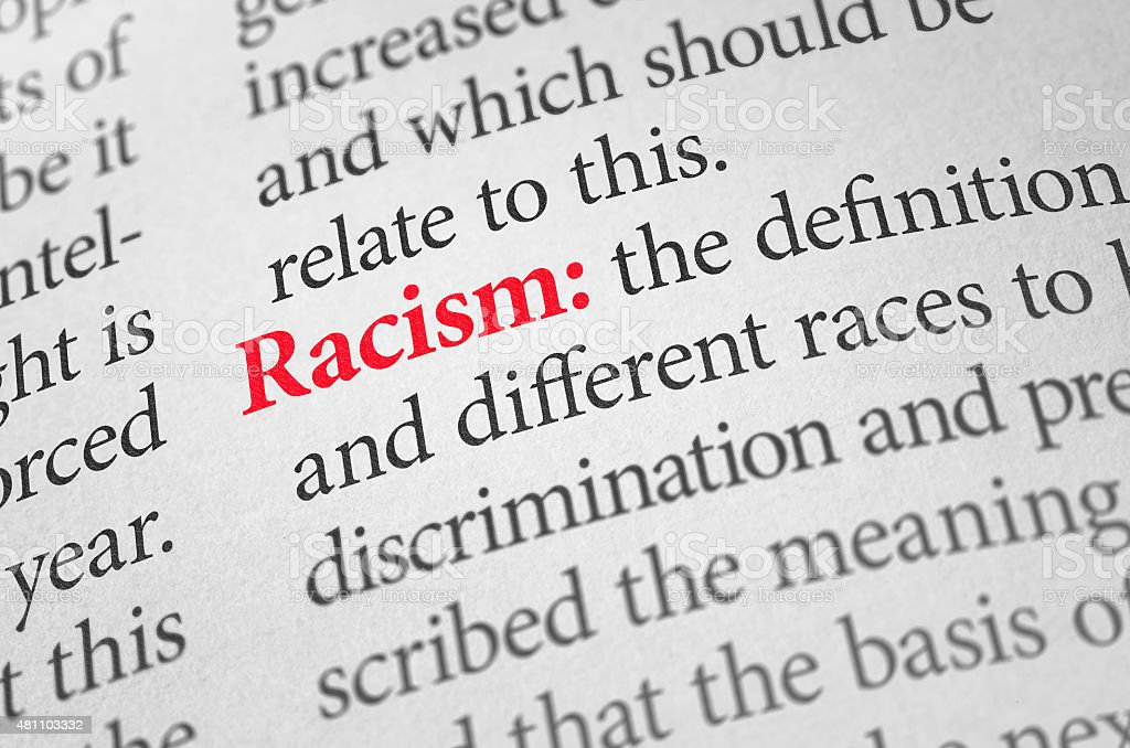 Definition of the word Racism in a dictionary stock photo