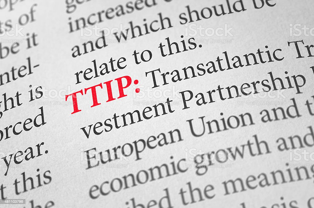 Definition of the word TTIP in a dictionary stock photo