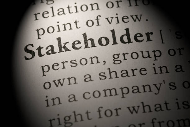 definition of word stakeholder stock photo