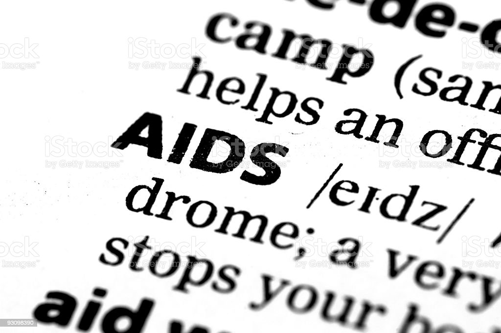 AIDS Definition royalty-free stock photo