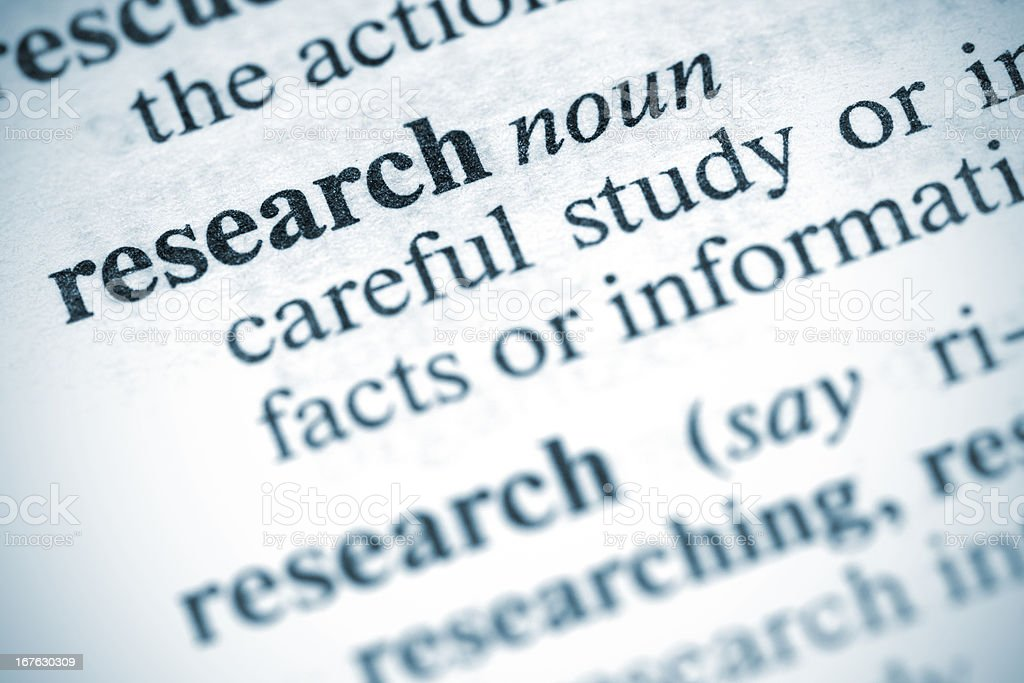 Definition: Research royalty-free stock photo