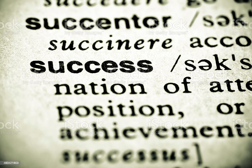 Definition: Success royalty-free stock photo