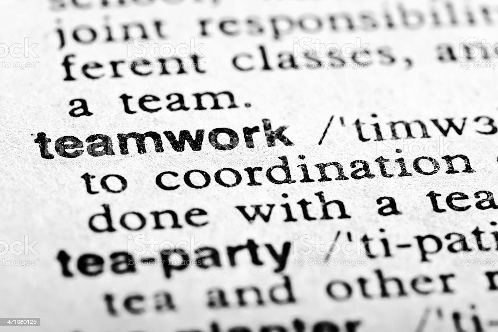 Definition: Teamwork royalty-free stock photo