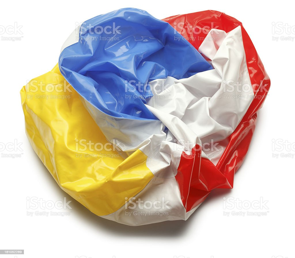 Deflated Beach Ball stock photo