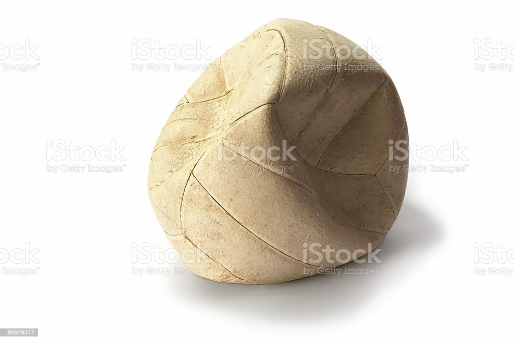 Deflated Volleyball 3 royalty-free stock photo
