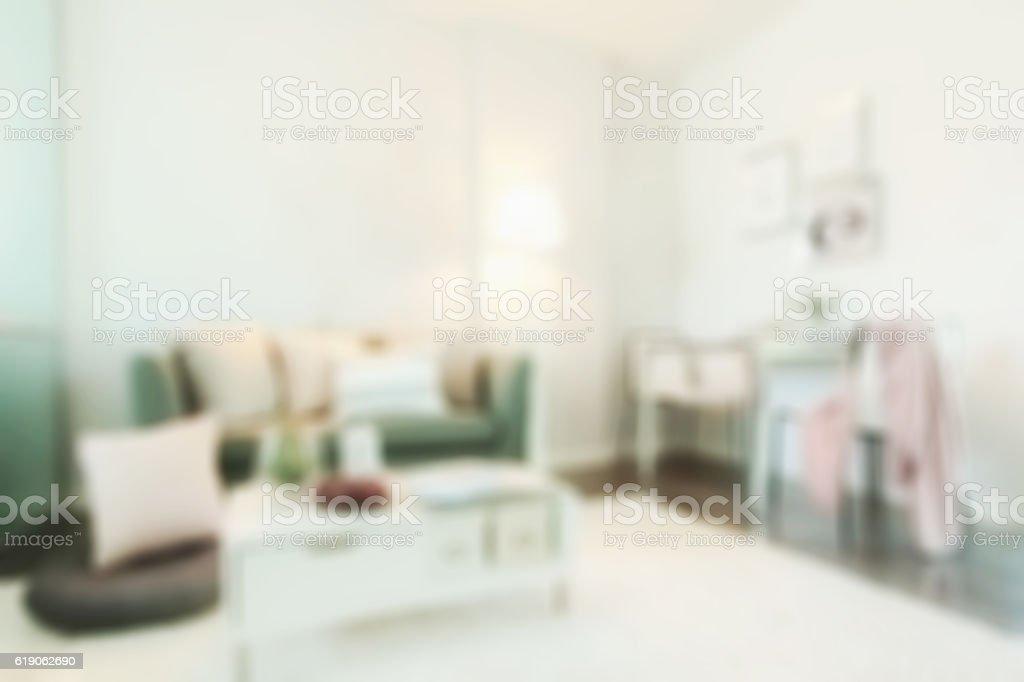 Defocus background living room in modern interior style stock photo