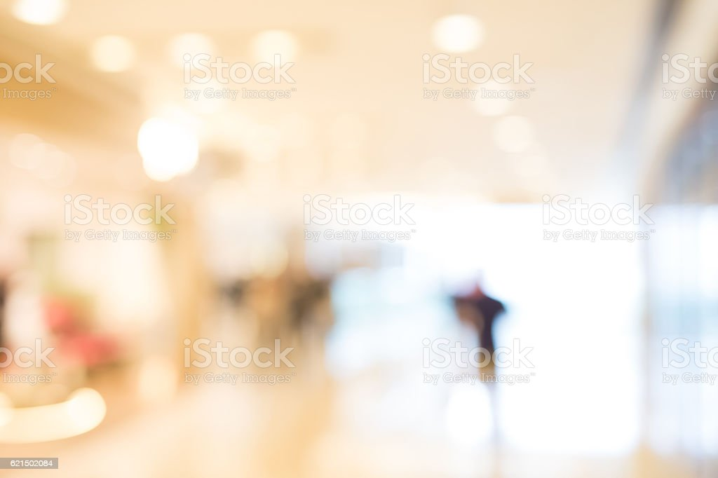 defocus bokeh of shopping mall foto stock royalty-free