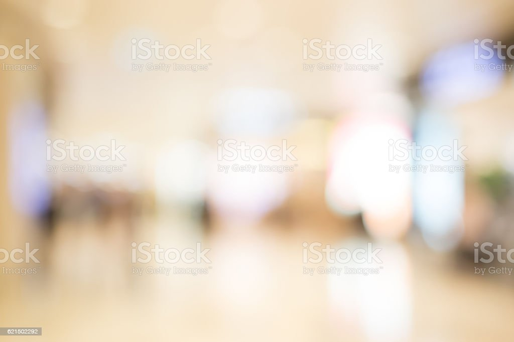 defocus bokeh of shopping mall photo libre de droits