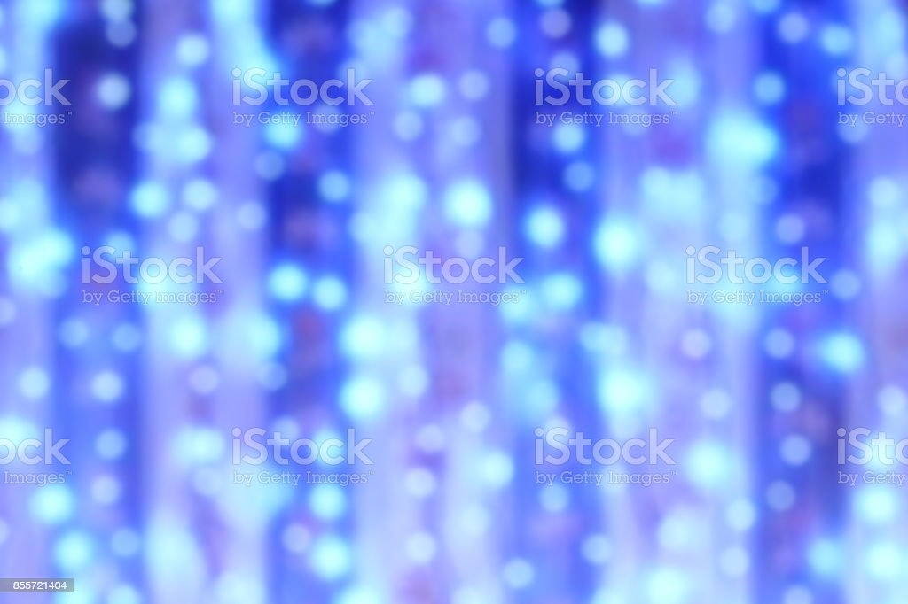 Defocus LED blue light on blue cloth curtain backdrop Background. stock photo