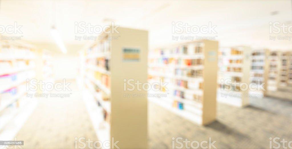 Defocus Library stock photo