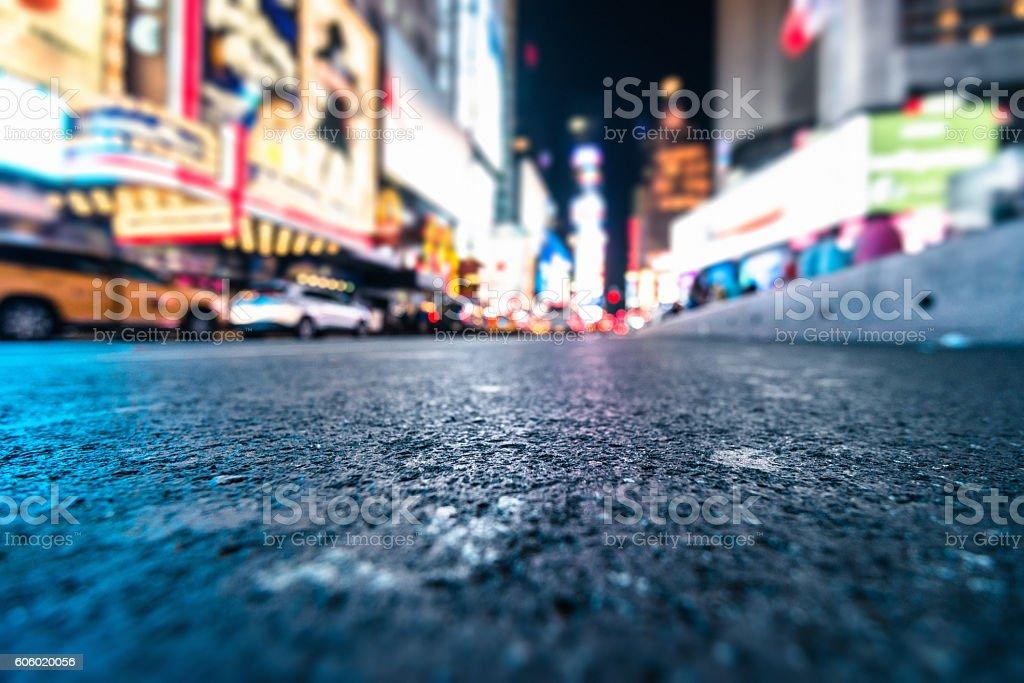 defocus Licht auf den times square, manhattan – Foto