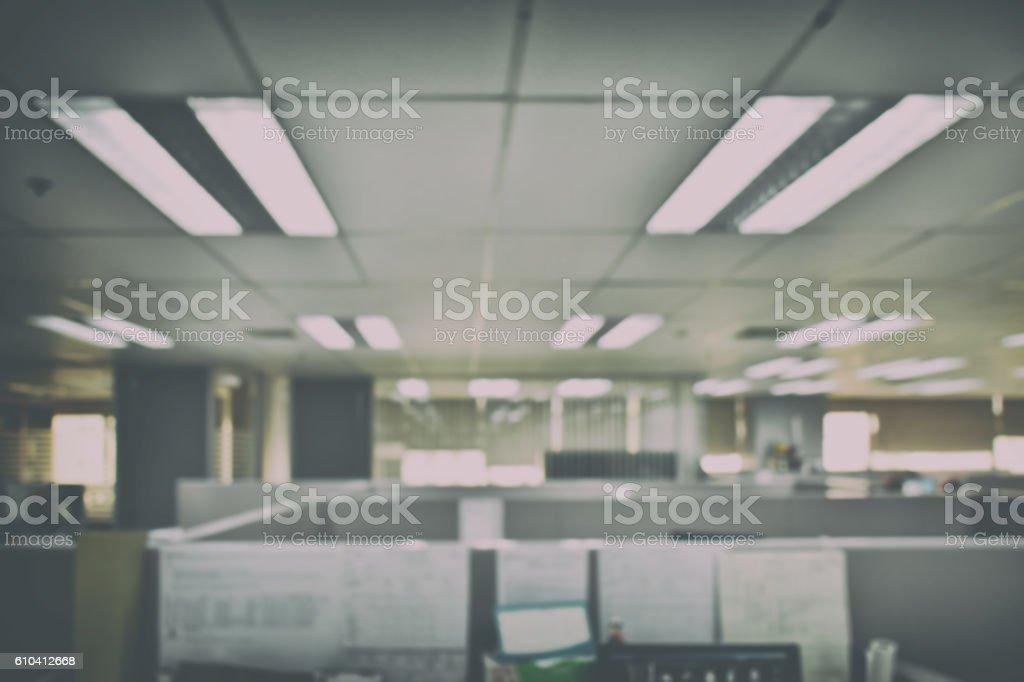 Defocus office space background stock photo
