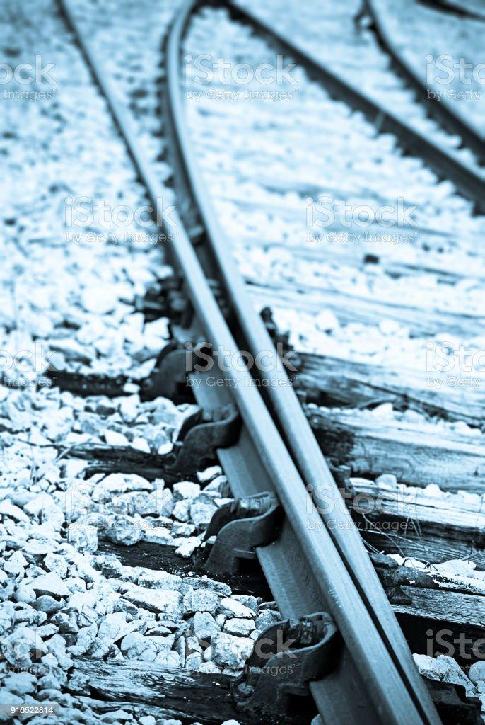 Defocus Railroad Track, Transportatio, Train stock photo