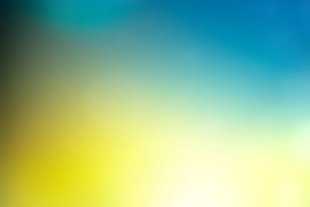 Defocused Abstract Background Blue Green yellow stock photo