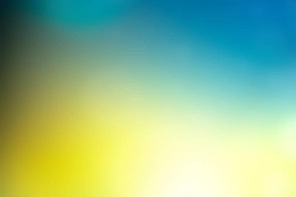 oskärpa abstrakt bakgrund blågrön gul - blue yellow bildbanksfoton och bilder