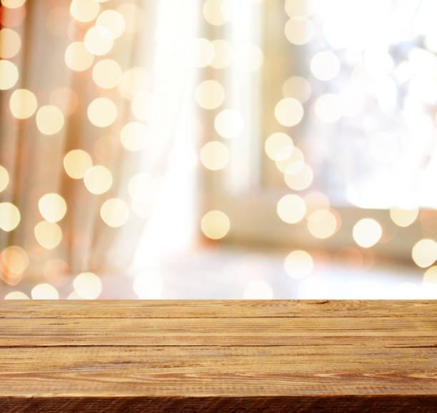 defokussierten abstrakten hintergrund unscharf bewegung mit bokeh ligh - holzdeko weihnachten stock-fotos und bilder