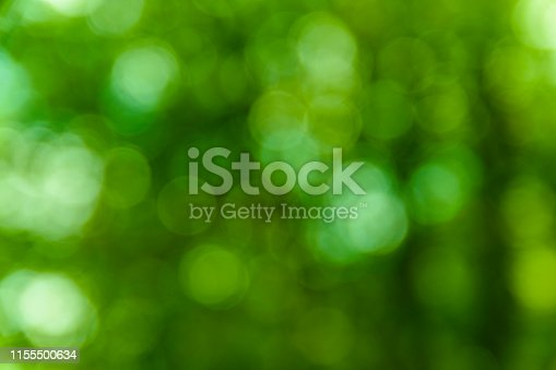 639809128 istock photo Defocused and blurred background. Green bokeh 1155500634