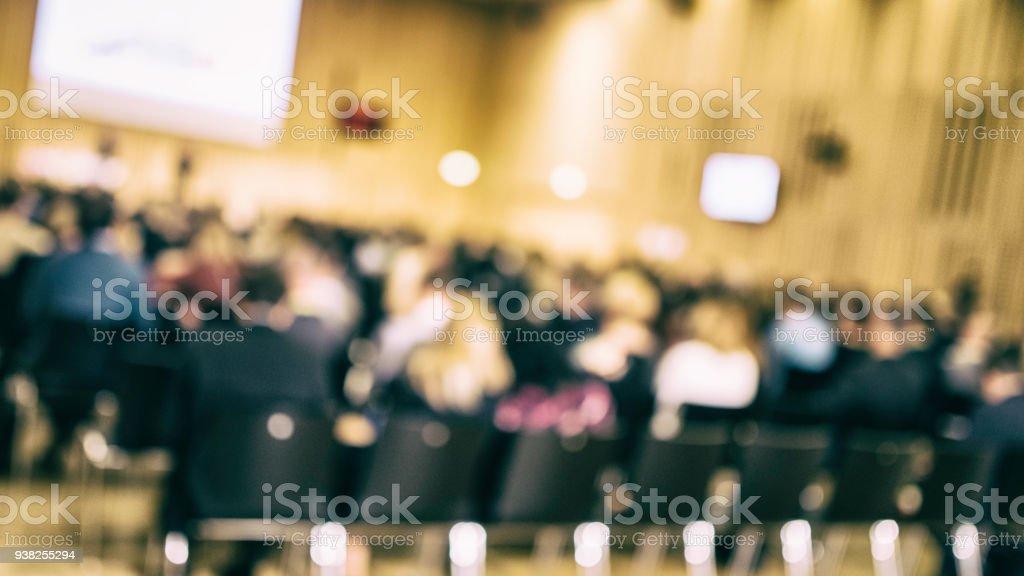 Defokussierten Publikum bei einem englischsprachigen event – Foto