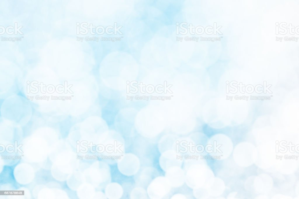 Defocused blue background with bokeh lights stock photo