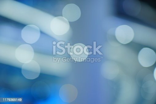 653331540 istock photo Defocused blue background with light 1179365149