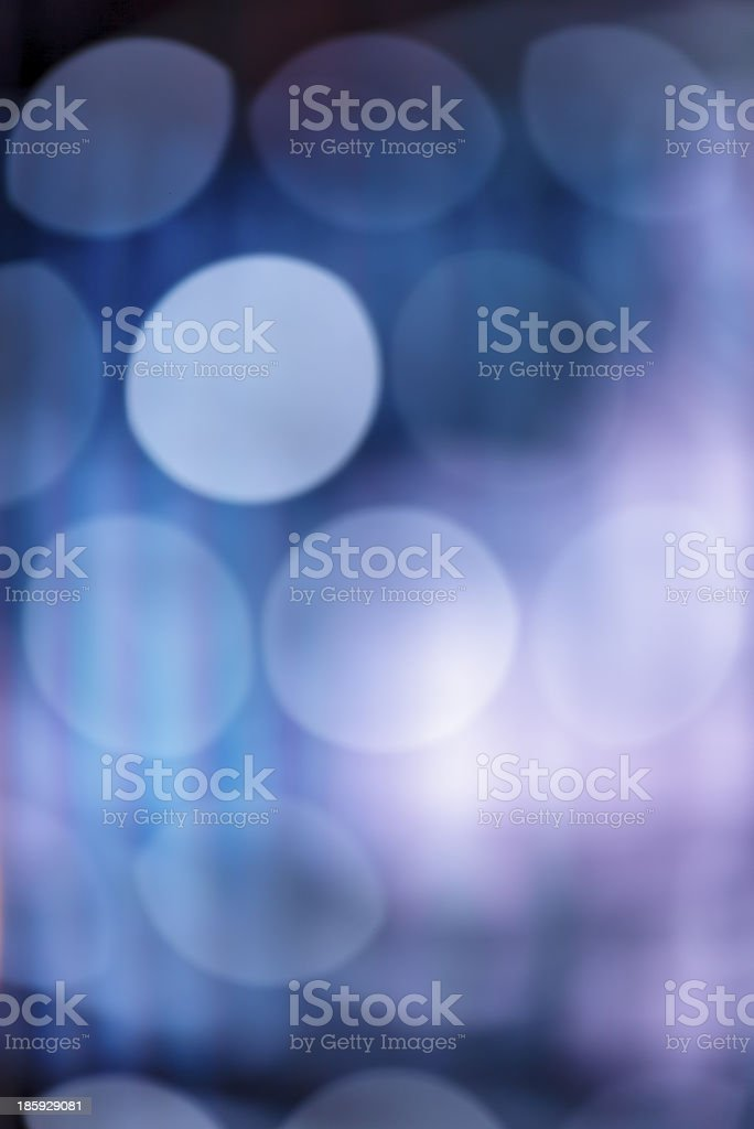 Defocused blue lights royalty-free stock photo