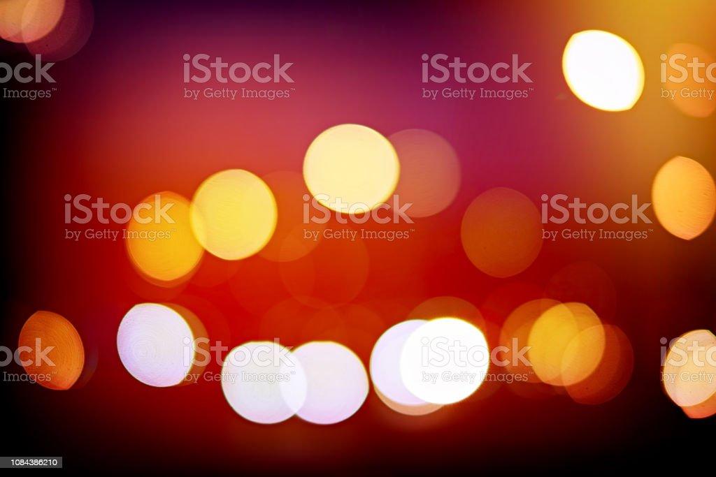 Défocalisé Bokeh ville lumières fond - Photo