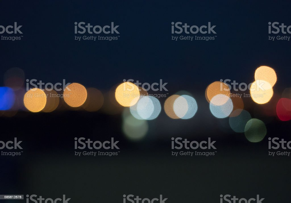 defocused bokeh lights stock photo
