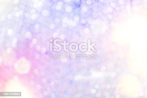 Defocused Bright Colorful Chandelier Lights Background