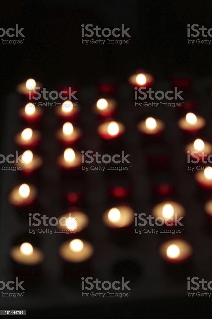 Defocused Candles stock photo