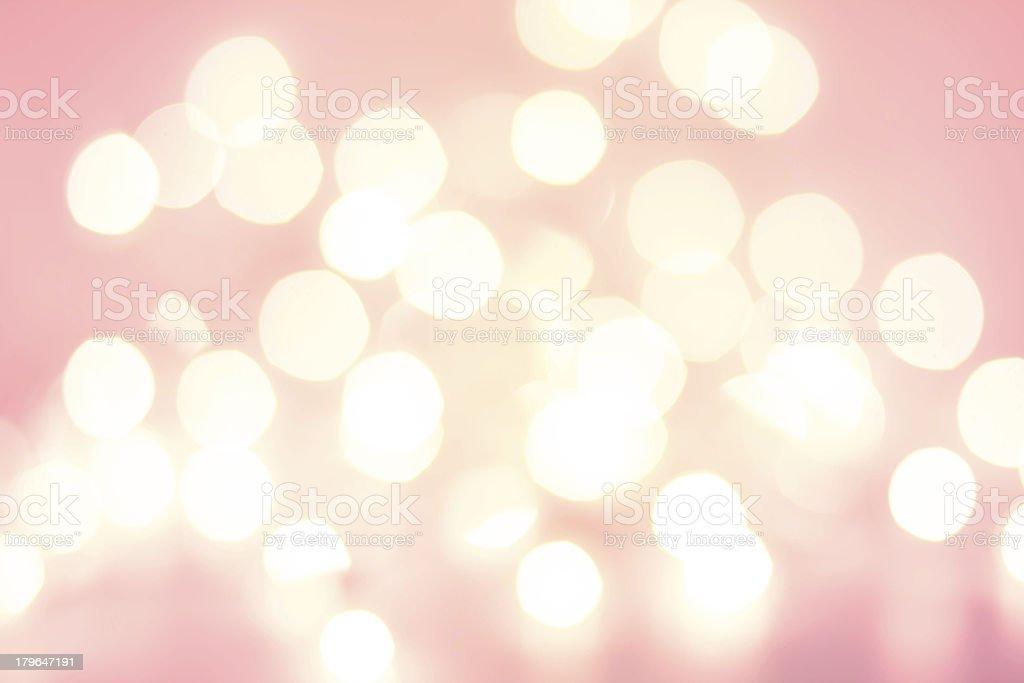 Defocused Christmas Bokeh light Vintage background. stock photo