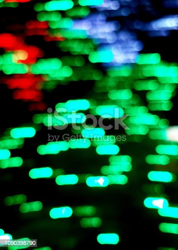 istock Defocused christmas colorful lights abstract background 1090398790