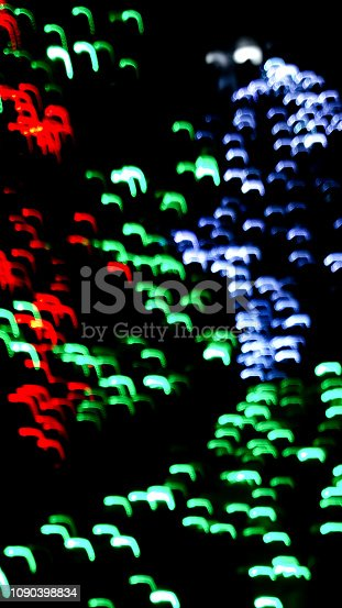 istock Defocused christmas colorful lights abstract background 1090398834