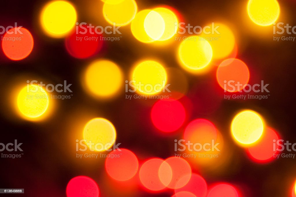 Defocused  christmas lights as background stock photo