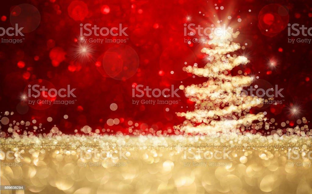Defokussierten Weihnachtsbaum Hintergrund – Foto